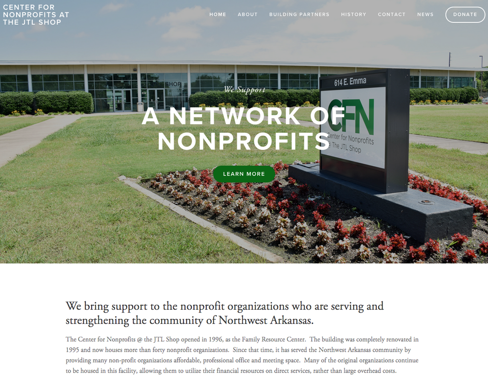 cfn, jtl shop, center for nonprofits, bernice jones, harvey jones, springdale, northwest arkansas, nwark,