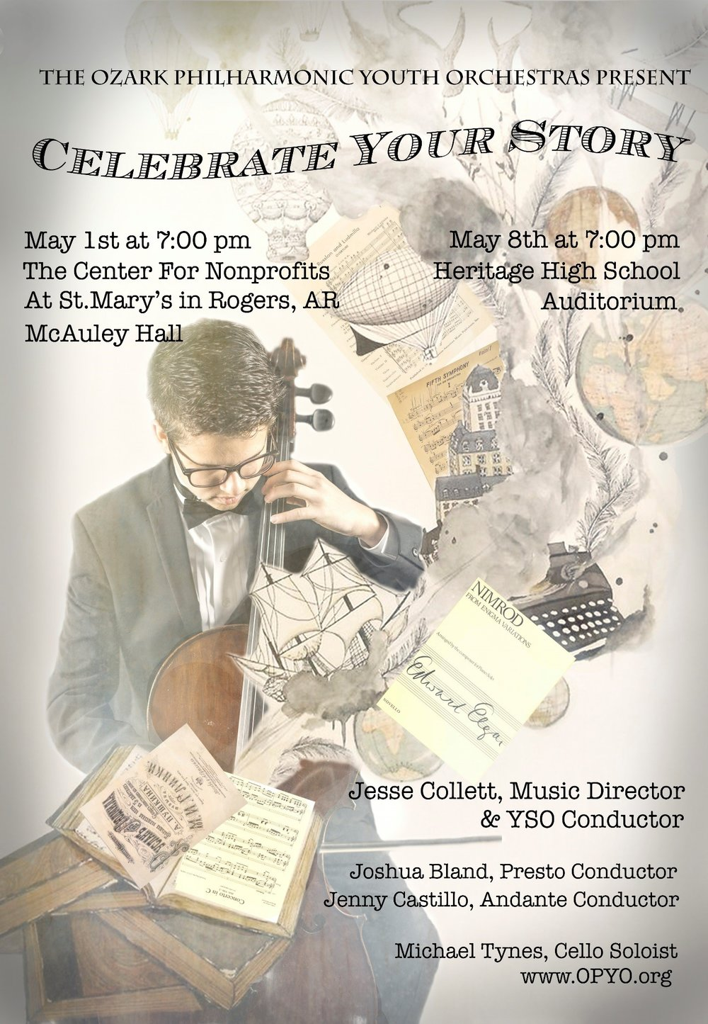 Ozark Philharmonic Youth Orchestra to Perform Free Concert at McAuley Hall