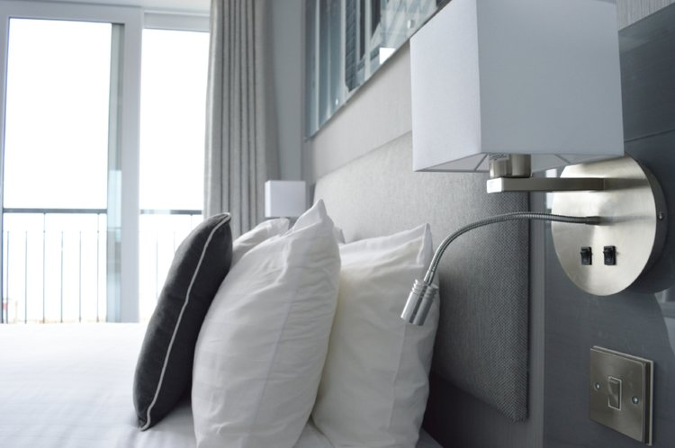 Image: One of the new contemporary hotel rooms overlooking the coast. Book one now!