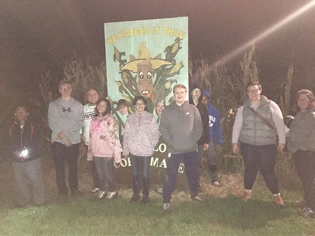 Don't mean to be corny, but we had an a-MAZE-ing time at the corn maze last night!