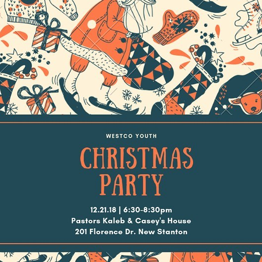 We can't wait to see you guys tomorrow! Wear your tackiest Christmas Sweater and bring a $5 silly gift for our gift exchange!