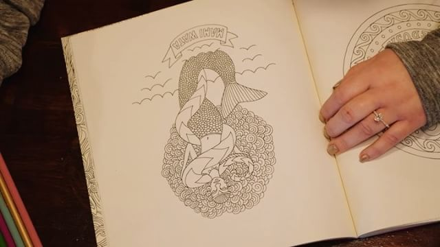 Another #timelapse because I can, this time it's @christieleighhh #coloring a #mermaid and the finished product . . . #panasonic #lumix #gh4 #coloringbook #coloredpencils