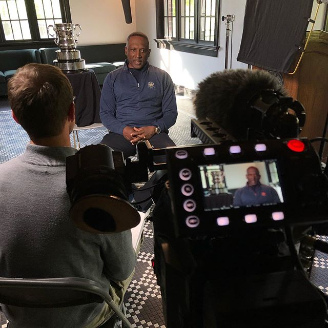 Some cool stuff yesterday. Hanging out with Hall of Famers Tim Brown and Jerome Bettis. And by hanging out, I mean pointing a camera at. . . . #panasonic #varicam #varicamlt #cinematography #nflhalloffame