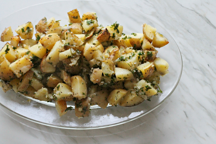 Roasted Parsley Lemon Garlic Potatoes