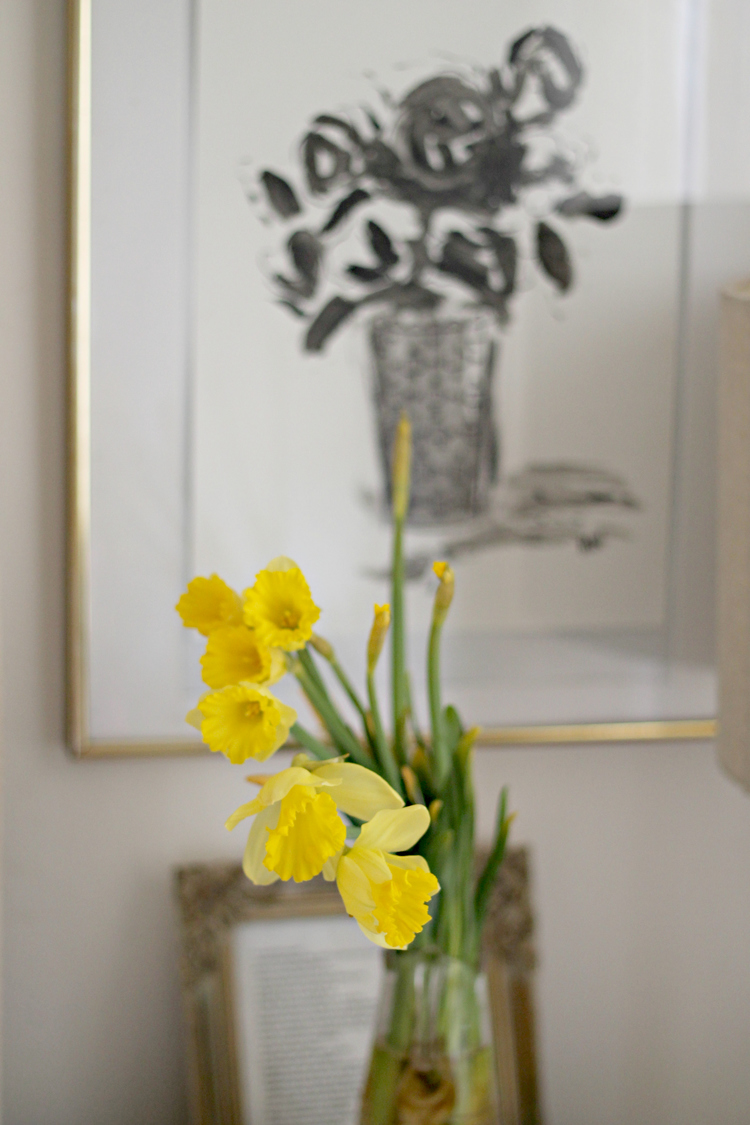 Fresh flowers throughout the house are a must!