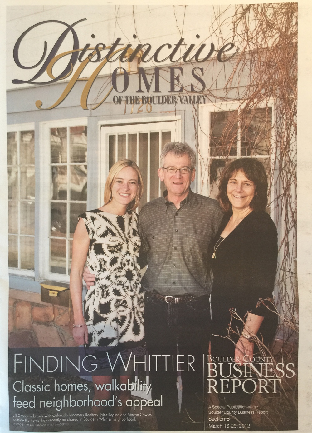 Finding Whittier - Cover of BCBR Distinctive Homes