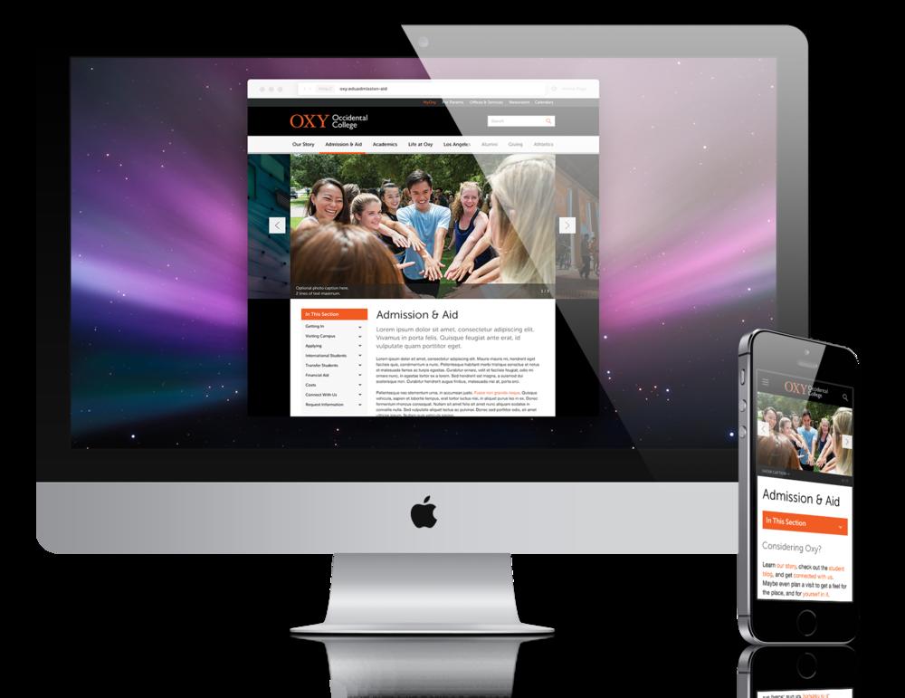 OXY DESKTOP & MOBILE WEBSITE
