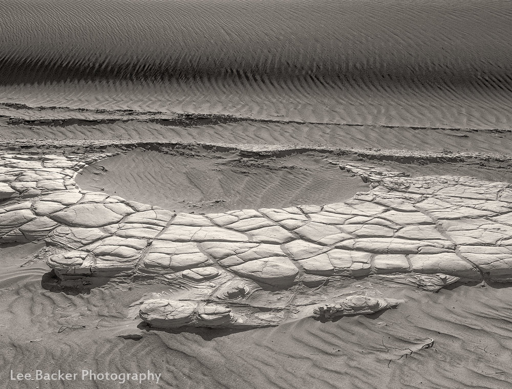 Dune and Cracked Mud