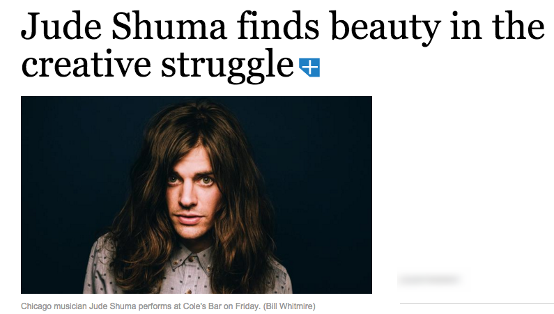 Jude Shuma finds beauty in the creative struggle   Chicago Tribune.png