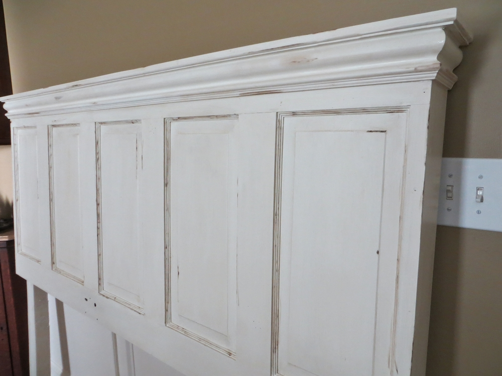 Queen Headboard (reclaimed door)