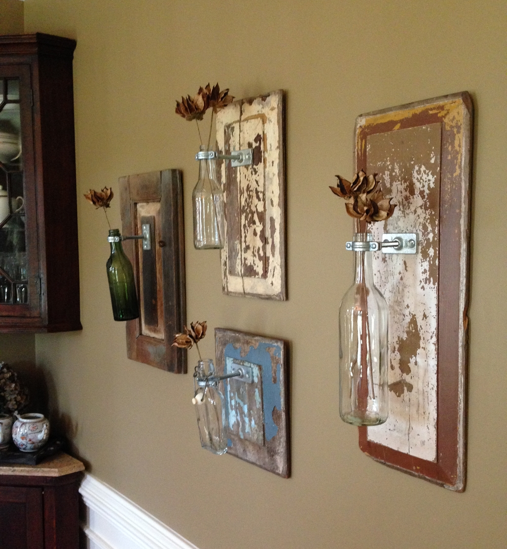 Grouping of Wall Vases