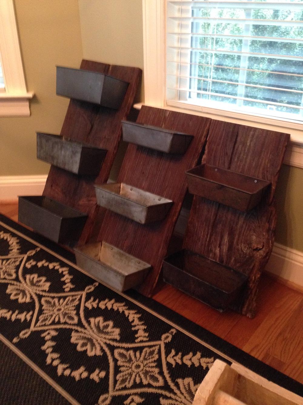 Barn wood wall bins