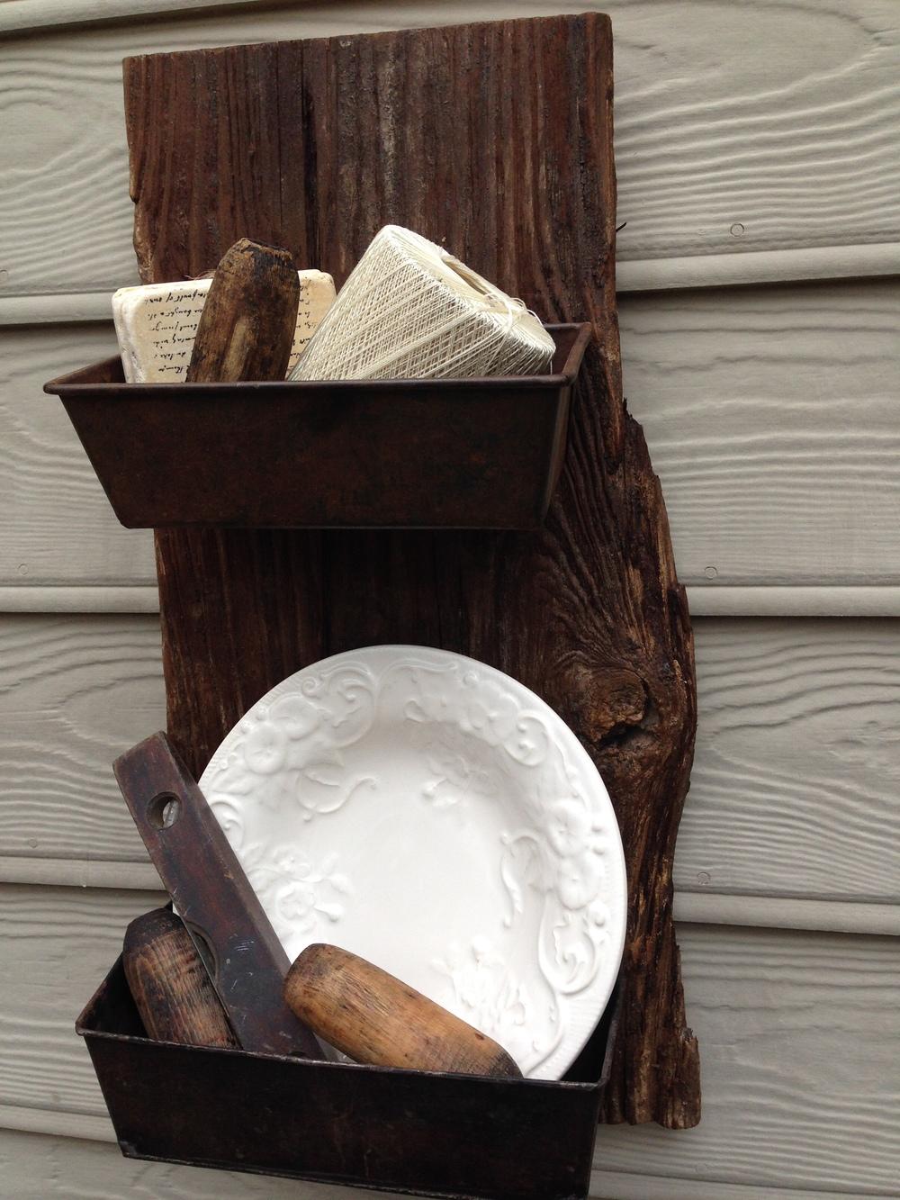 Barn wood wall bin