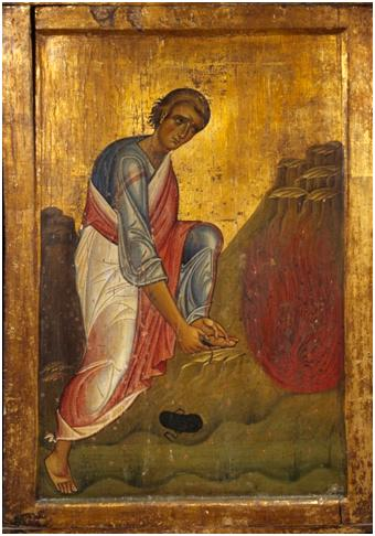 Moses approached the divine fire of the Burning Bush with the footsteps of his mind bare, completely free from any human trains of thought.  -Saint Maximos the Confessor