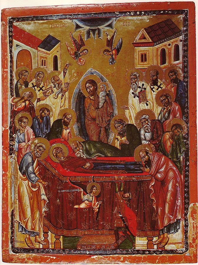 Sinai icon of the Dormition of the Theotokos from the latter half of the 13th century.