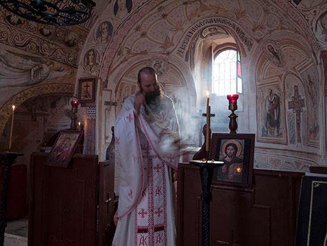 Liturgy inside the Chapel of Nativity of the Theotokos, Saint Catherine's Monastery, Sinai