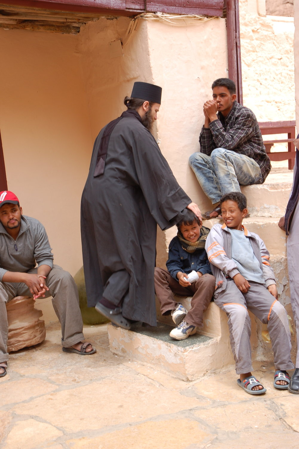 Bedouin children at the Monastery of Saint Catherine