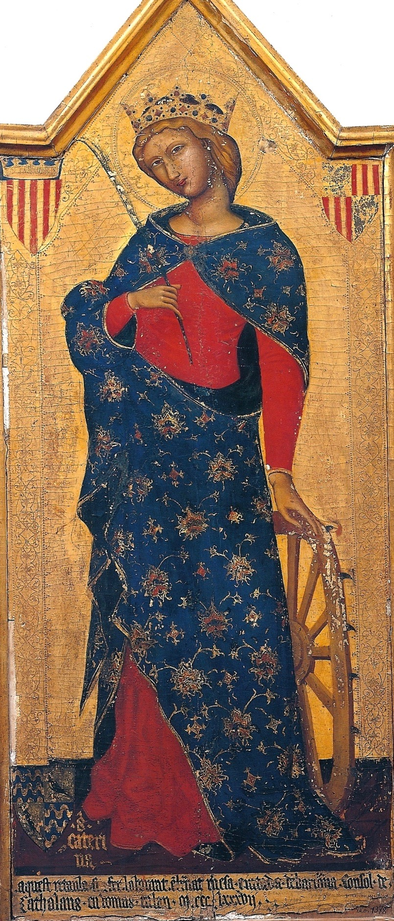 A fourteenth century Catalonian icon representative of the Saint's renown in Europe.