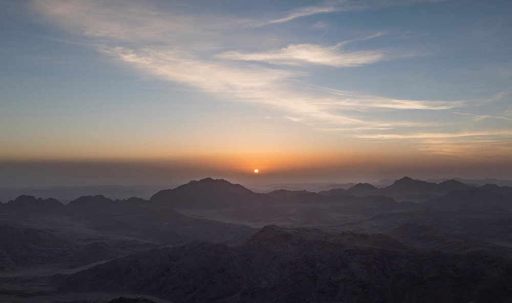 Dawn from the Holy Summit of Sinai.