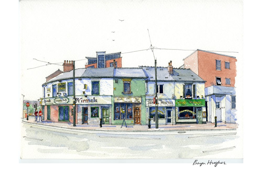 Bryn hughes award winning sheffield artist watercolour for Printing architectural drawings