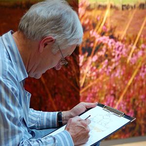Bryn sketching