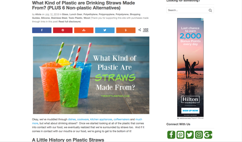 - What Kind of Plastic are Drinking Straws Made From? (PLUS 6 Non-plastic Alternatives)