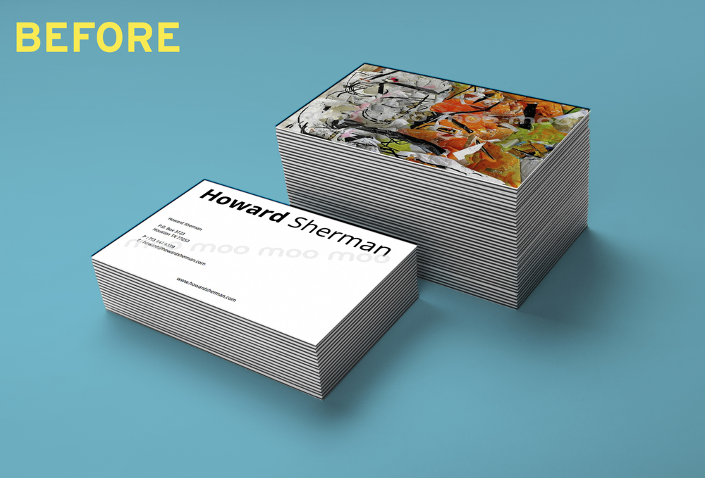 Rebranding: Howard Sherman Business Cards — Lauren Wastal