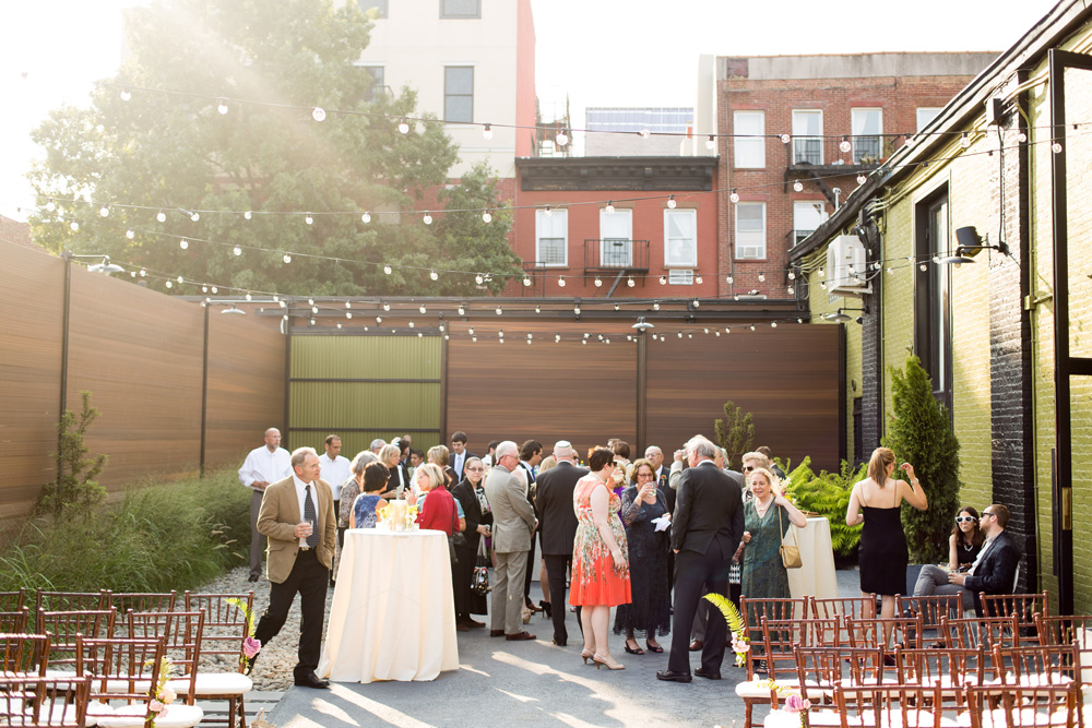 The Green Building summer wedding. Photo by Dutton+James