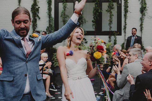 Moments of uncontrollable joy. #theloveunion venue: @501union photo: @chellisemichael coordination: @starlingonbond #brooklynwedding #501union #weddingphotography #justengaged