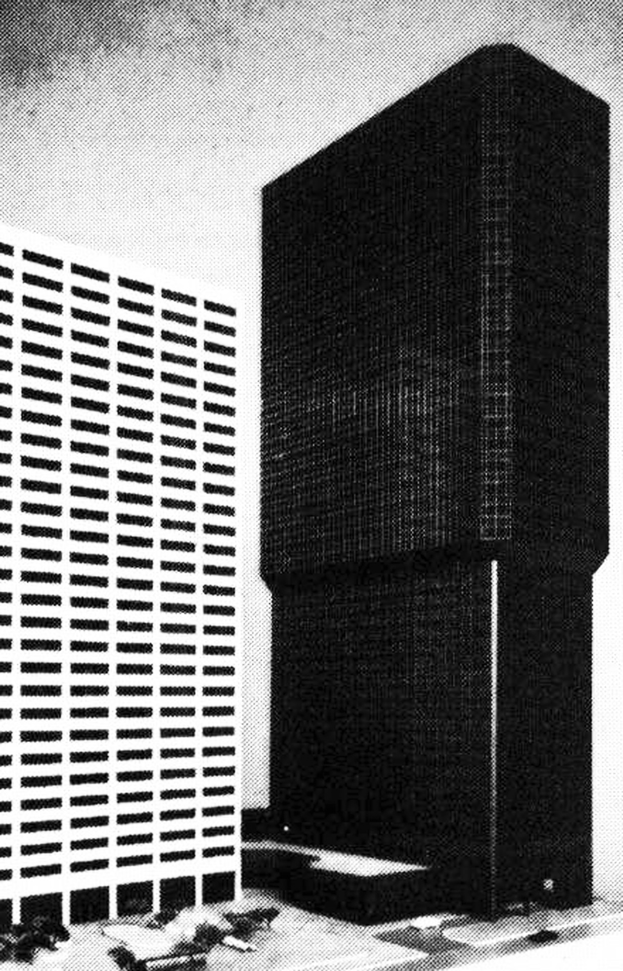 archiveofaffinities :     Hellmuth, Obata & Kassabaum, ARCO Tower / MCI Building / Jacobs Tower / 707 17th Street, Denver, Colorado, 1981