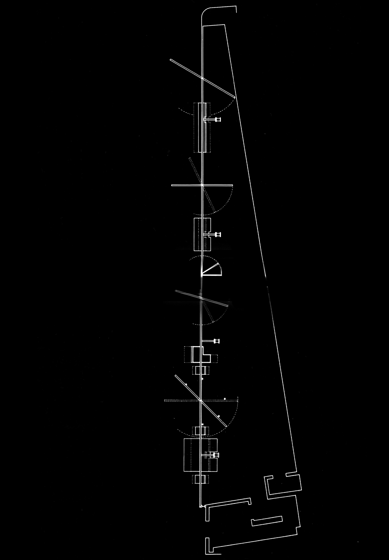 archidose :      betonbabe :    STEVEN HOLL AND VITO ACCONCI     FLOOR PLAN OF THE  STOREFRONT FOR ART AND ARCHITECTURE  , 1994