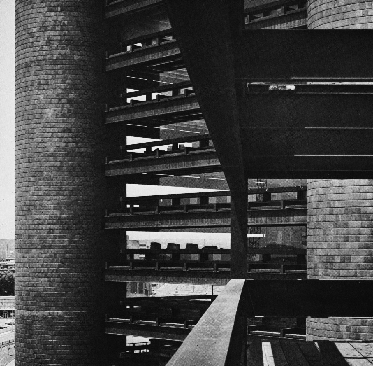 architectureofdoom :      fuckyeahbrutalism :     Knights of Columbus Building, New Haven, Connecticut, 1967-69   (Kevin Roche, John Dinkeloo Associates)      View this on the map