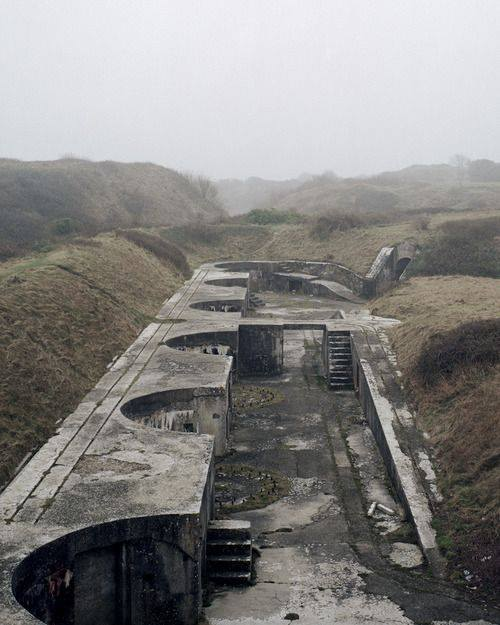 poetryconcrete: Bunker, photograph by Marc Wilson, in Portland, Dorset, England.