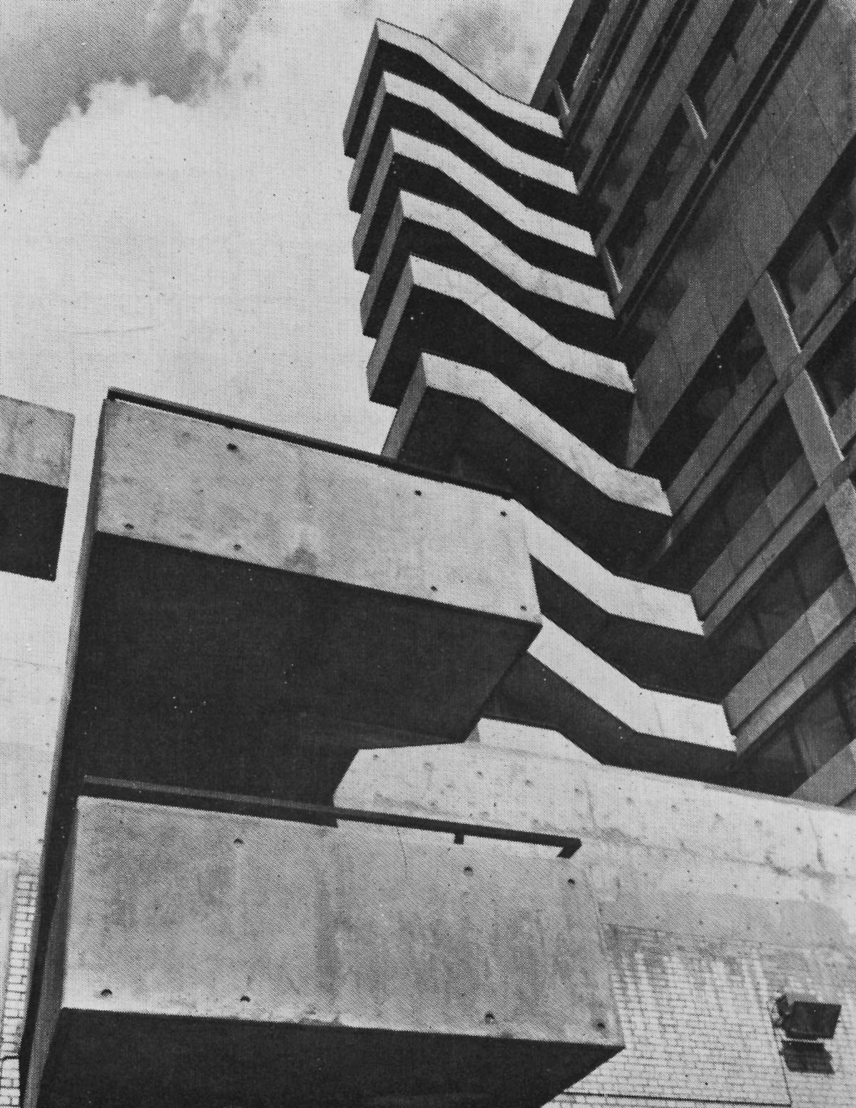 fuckyeahbrutalism :     Shops, Offices and Flats, Swiss Cottage, London, UK, 1964   (Douglas Stephen & Partners)