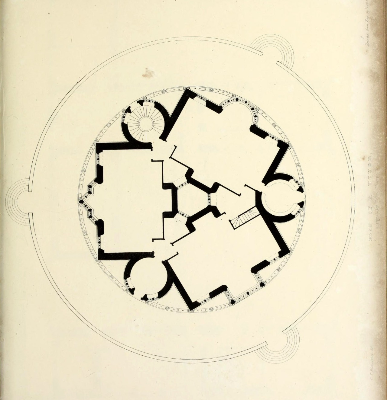 archimaps: Design for a countryside residence in a circular shape