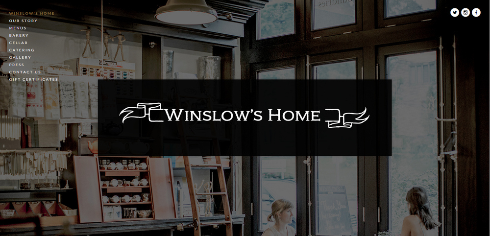Winslow's Home Website Design
