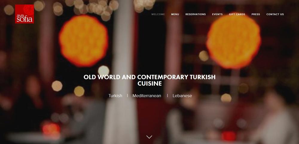 Aya Sofia Website Design