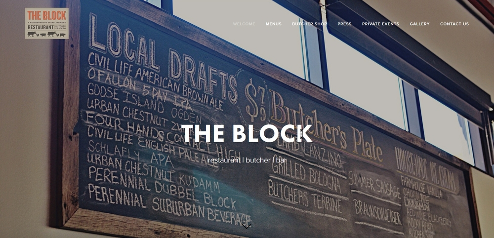 The Block Website Design