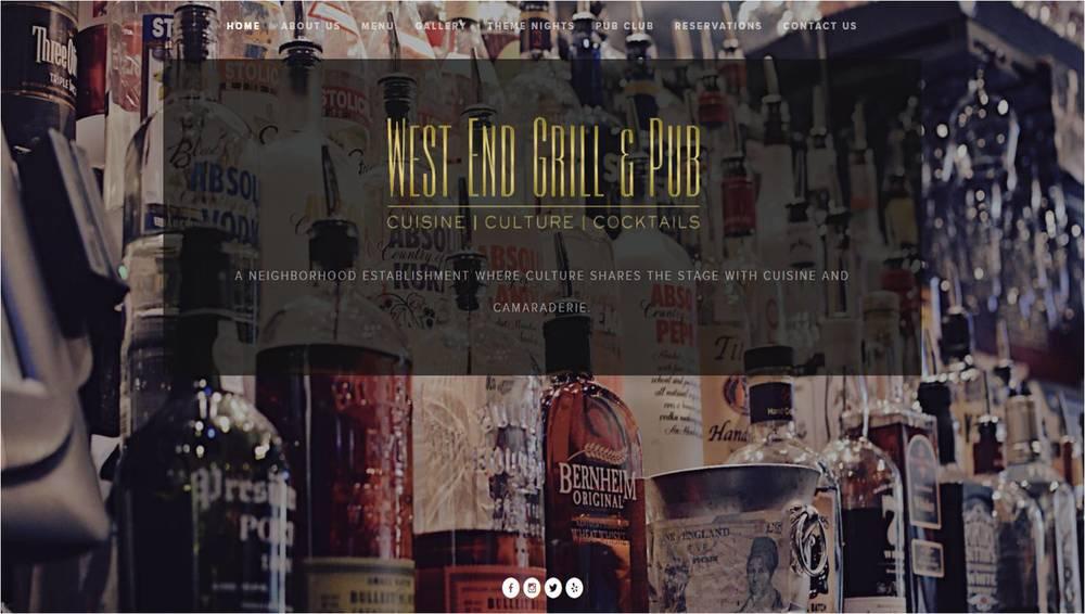 West End Grill & Pub Website Design