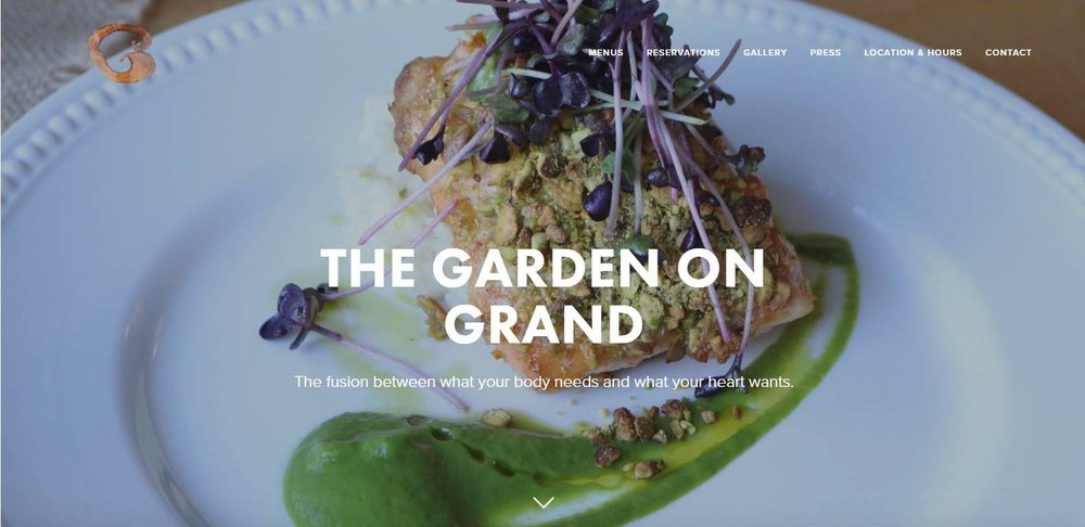 The Garden on Grand Website Design