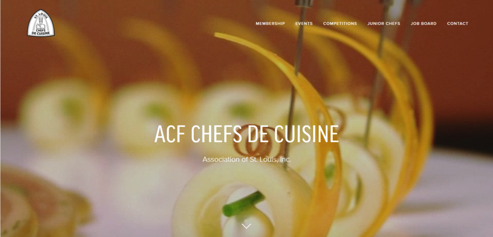 ACF Chefs de Cuisine Association of St. Louis Website Design
