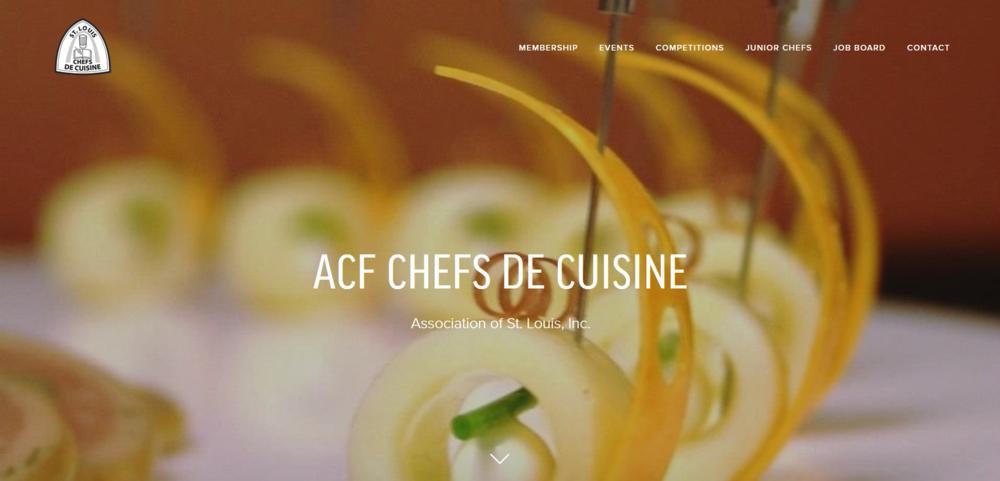 ACF Chefs de Cuisine Association of St. Louis Website Design