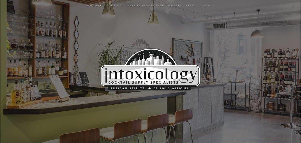 Intoxicology Website Design