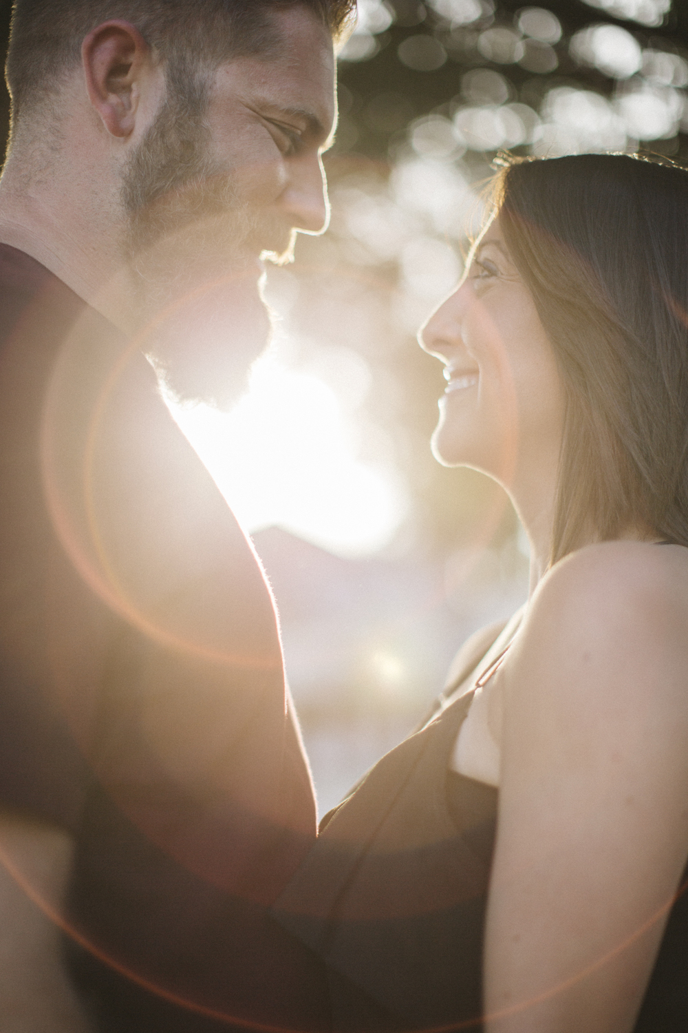 sun flare engagement - san antonio wedding