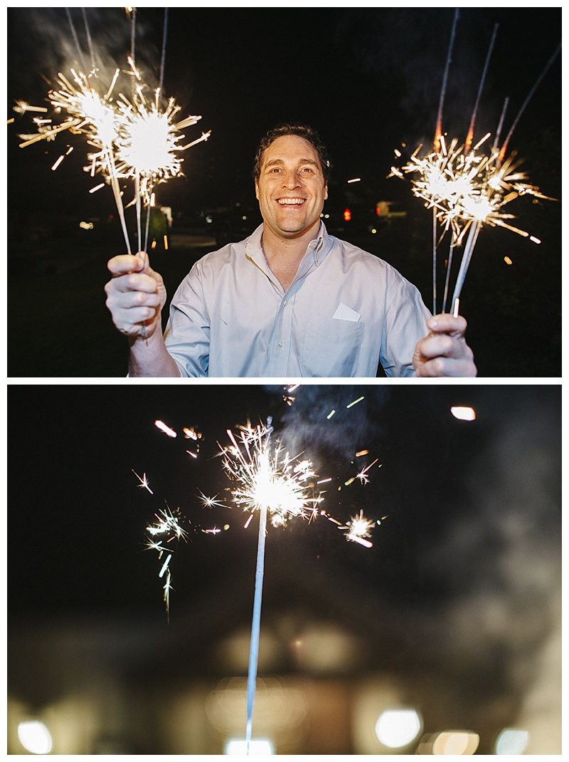 sparklers - san antonio wedding
