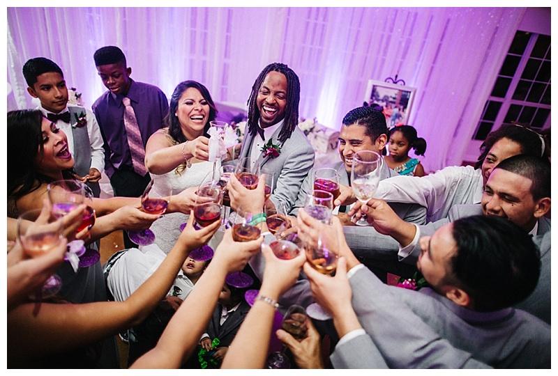 Cheers - toast - san antonio wedding