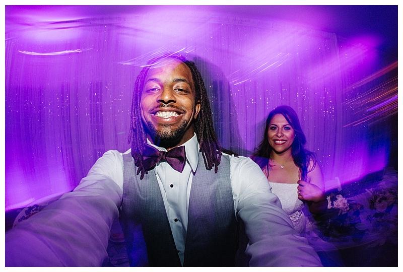 fisheye selfie - san antonio wedding photographer