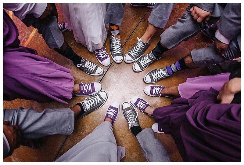 Shoe shot - converse - san antonio wedding