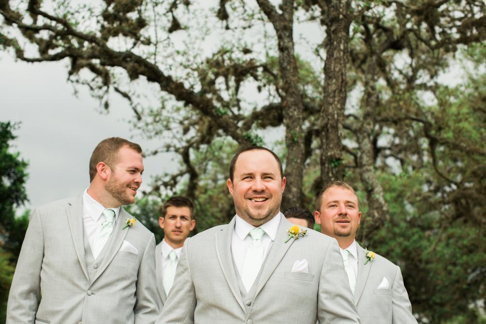 groomsmen - texas hill country wedding