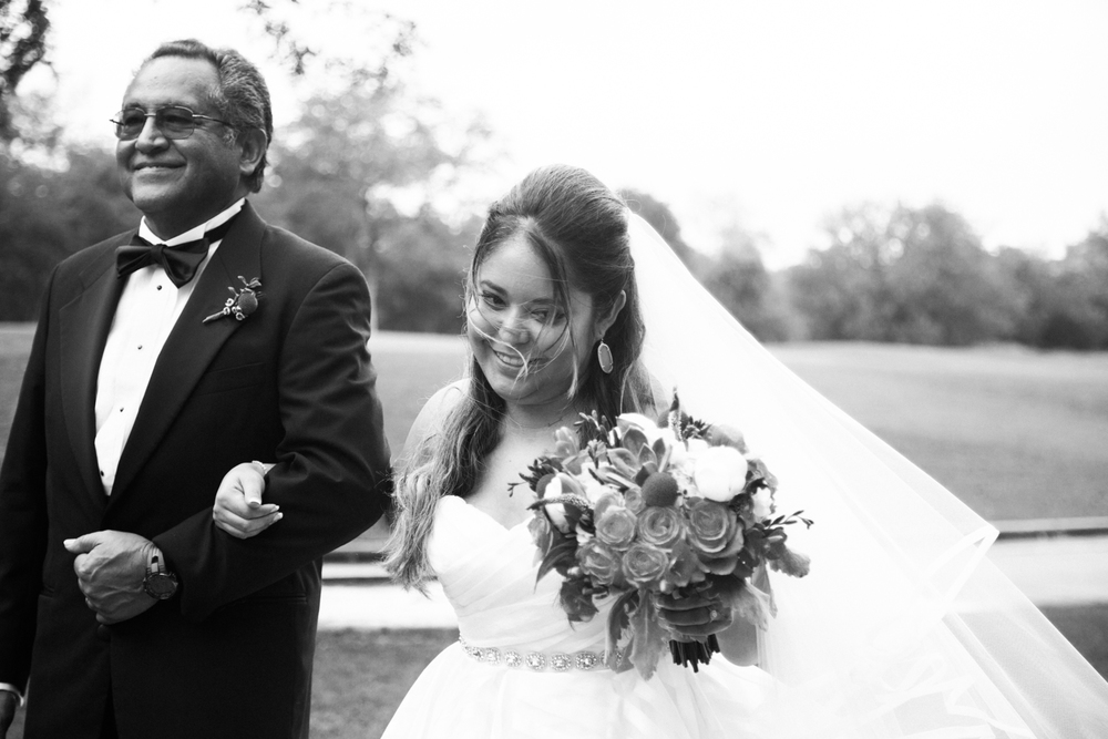 black and white father of the bride
